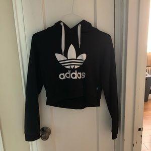 Adidas Cropped Trefoil Hoodie